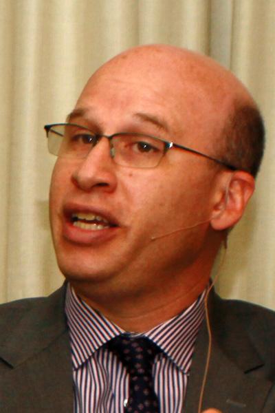 出席哥伦比亚大学师范学院主办的专家论坛的纽约市教育局副局长舒兰斯基。(摄影:潘伊文/大纪元)