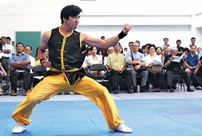 2013年新唐人第四屆「全世界華人武術大賽」亞太初賽南方拳術組選手林志杰。(攝影╱林伯東)