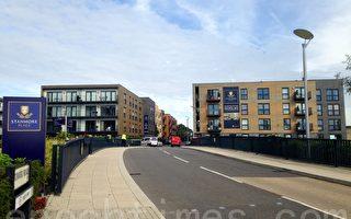 图为位于伦敦Zone 5的新建住宅物业Stanmore Place,由于距离伦敦市中心只需30分钟车程,吸引本地及海外投资者入货。(黎韵诗/大纪元)