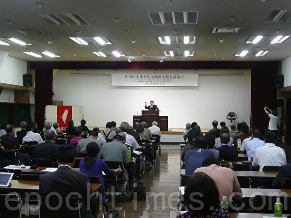 台灣團結聯盟代表林建良演講,認為中共最恐懼的是自己國家的公民。(攝影:張本真/大紀元)