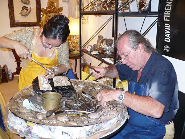 意大利佛罗伦萨有名的设计师Mari & Giuliano 夫妇。(日本BENE珠宝公司提供)