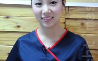 傅美慧勇奪國際金牌,彩妝、美甲、造型都難不倒她。(王鏡瑜/大紀元)