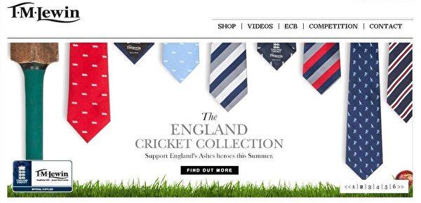 """多样化的真丝领带商品。(图:""""T.M LEWIN""""官网提供)"""