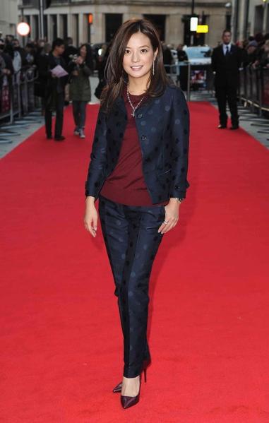 趙薇在倫敦電影節資料照。(LEON NEAL/AFP/Getty Images)