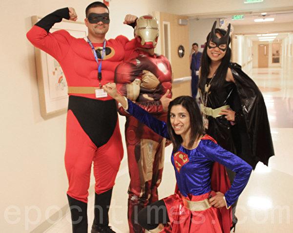 旧金山湾区儿童医院 万圣节暖童心。(屈婧/大纪元)