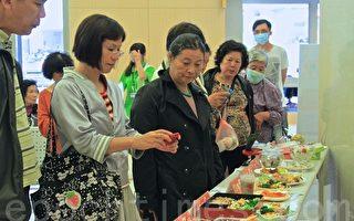 苗栗大千医院健康轻食创意料理比赛,吸引很多民众参观(许享富 /大纪元)