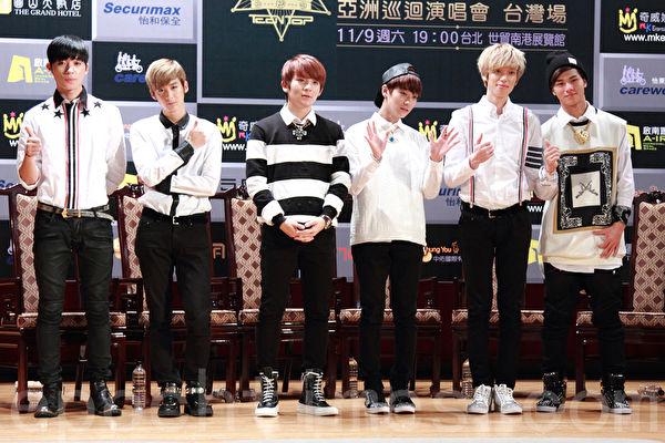 TEEN TOP團員(左起)創造、天地、Ricky、L.Joe、Niel、C.A.P資料照。(丘普林/大紀元)