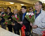 国父孙中山先生诞辰纪念,旧金山举行献花鞠躬仪式。(曹景哲/大纪元)