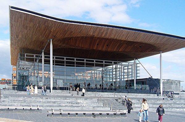 威尔士国民议会(National Assembly for Wales)大厦。(维基百科)