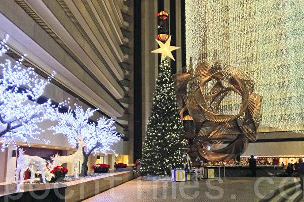 舊金山凱悅酒店聖誕燈飾拉開假日季序幕