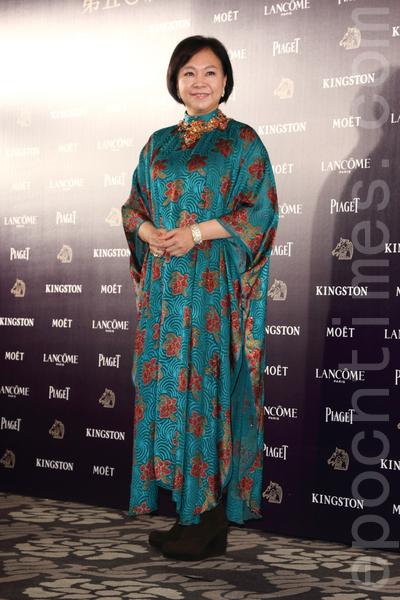 第14屆金馬獎的最佳女主角陳秋霞出席金馬獎入圍酒會。(丘普林/大紀元)