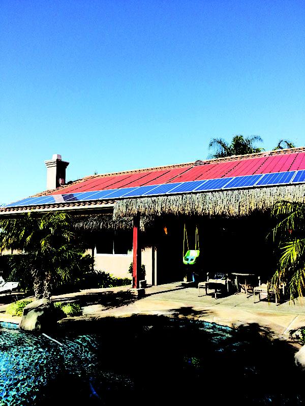 圖:已經裝好太陽能板的獨立屋。(圖片由Semper Solaris提供)