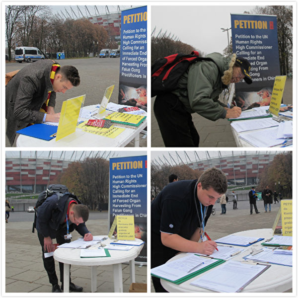 参加会议的各国家代表纷纷在征签簿上签名(图片来源:明慧网)