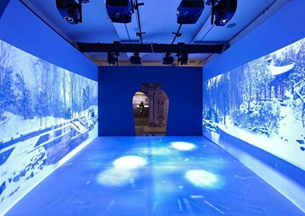 """""""忆江南四季长廊""""结合投影与互动装置,呈现如诗如画的四季景色。(顽石创意提供)"""