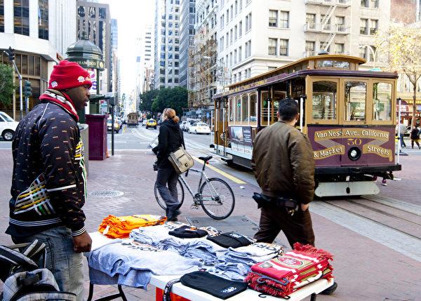 美國舊金山街景(攝影:馬有志/大紀元)