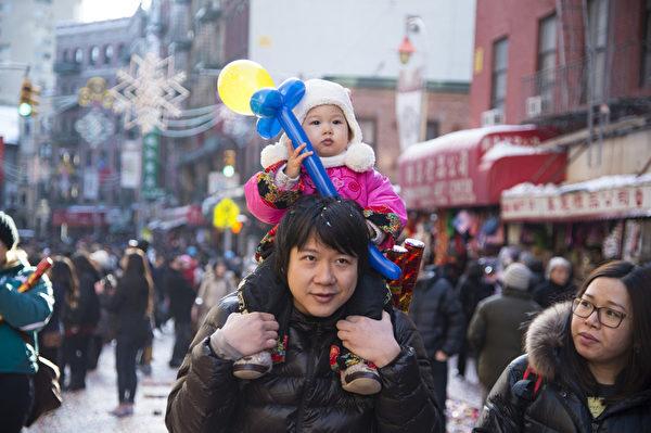 美國紐約中國城慶祝中國新年。(戴兵/大紀元)