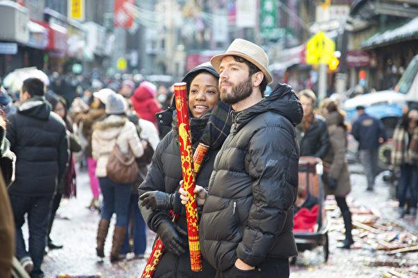 美國紐約中國城慶祝2013年中國新年。 (戴兵/大紀元)