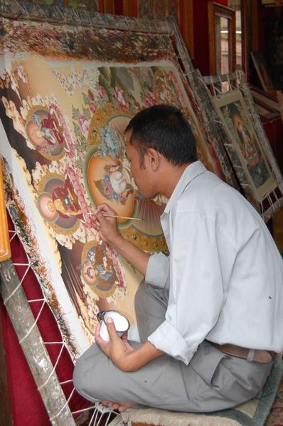 尼泊爾巴克塔布畫像人(意文/大紀元)