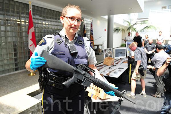 加拿大列治文收繳槍支彈藥(景浩/大紀元)