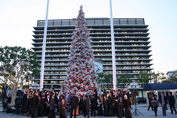 圣诞树点灯传统 照亮洛县分享欢欣