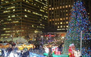 费城圣诞树点燃 圣诞节庆拉开序幕