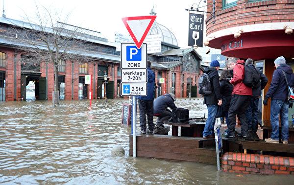 德国大水。(AFP)