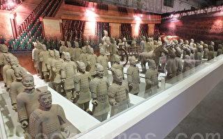 三度来台展示的千年兵马俑,首次将秦始皇的地宫,以考古复原的方式呈现,模拟宏大、神秘的地下宫殿样貌。(黄玉燕/大纪元)