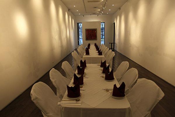 可容纳40人的独立宴会厅。(摄影:张学慧/大纪元)