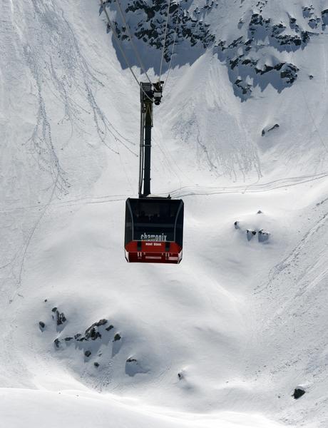 欧洲最高的南针峰缆车(PHILIPPE DESMAZES/AFP)