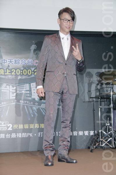 陶喆12月23日在台北出席记者会为大陆选秀节目造势。(黄宗茂/大纪元)