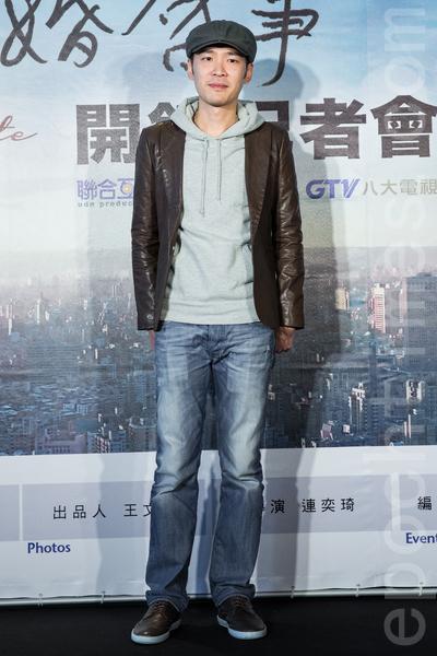 電視劇「徵婚啟事」12月23日在台灣台北市舉行開拍記者會,主要演員張少懷出席與會,為新戲宣傳。(陳柏州/大紀元)