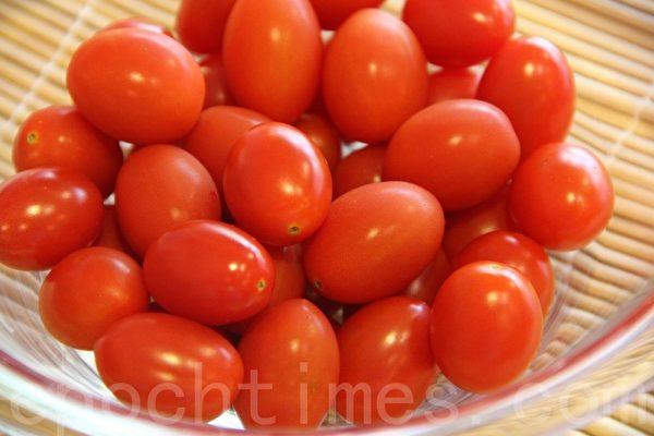 新鮮小番茄cherry tomato(攝影:ALEX/大紀元)