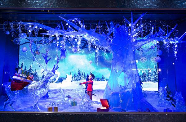 纽约梅西百货冰雪主题橱窗。(戴兵/大纪元)