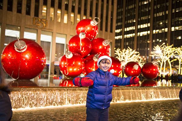 纽约浪漫圣诞夜(戴兵/大纪元)