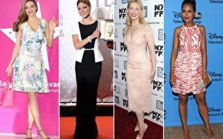 《VOGUE》杂志美国版日前评选出的部分年度最佳着装女星,左起:米兰达•可儿、蕾雅•赛杜、凯特•布兰切特和凯丽•华盛顿。(大纪元合成图)