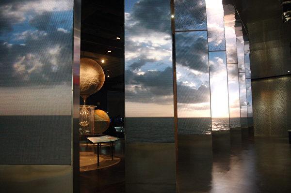 """国立海洋科技博物馆主题馆内的""""海洋科学厅""""。(于婉蘋/大纪元)"""