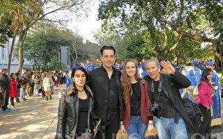 加拿大遊客新年香港喜看天國樂團