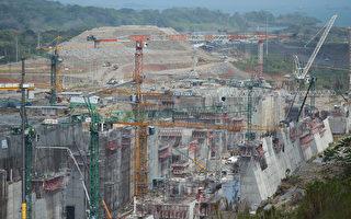 GUPC因拓建工程被延误,1年前要求巴拿马运河管理局多付16亿美元未果,1日又以停工为由要求付款。(Rodrigo ARANGUA/AFP)