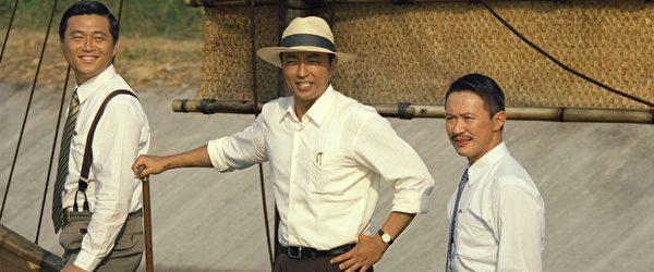 電影《KANO》即將2014年2月27日在臺上映,大澤隆夫(中)在片中飾演嘉南大圳之父八田與一。(威視電影提供)