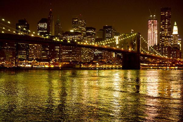 世界之都纽约热盼神韵。纽约曼哈顿布鲁克林桥。(戴兵/大纪元)