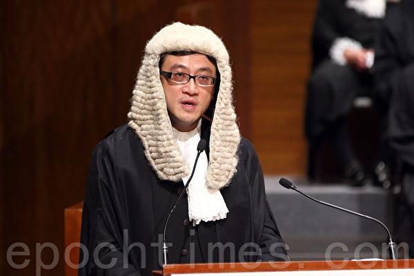 """香港大律师公会主席石永泰指,""""法治""""的根基有赖于社会整体的道德意识和公民素质""""集体良知""""。(潘在殊/大纪元)"""