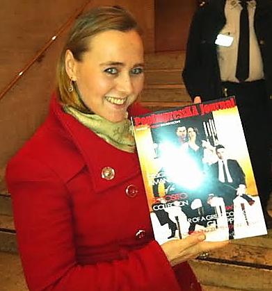 雜誌創始人Olga Papkovitch在2014年1月15日紐約林肯中心的神韻晚會。(龐慧兒/大紀元)