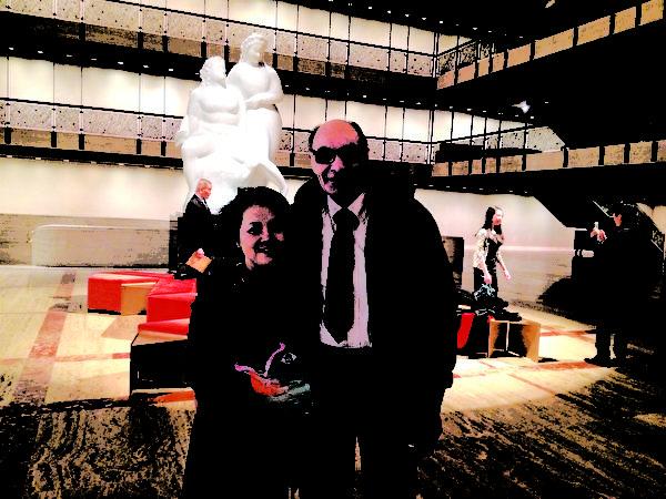 拥有大型的食品批发商店的Peter Riso先生观看了1月16日晚神韵纽约艺术团在纽约林肯中心大卫寇克剧院的第六场演出。(晓拂/大纪元)