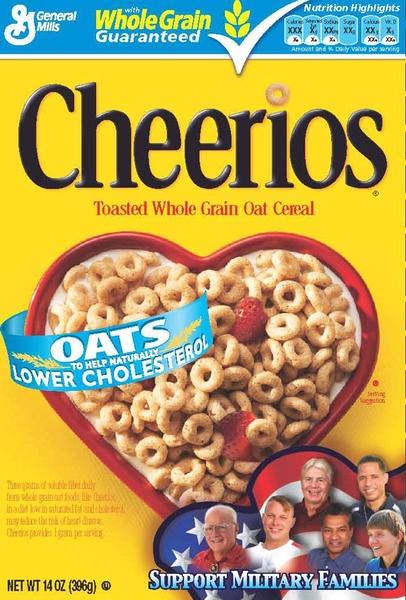 由通用磨坊生产的美国著名麦片Cheerios将停止在其原味麦片中使用转基因的成分。(大纪元资料图片)