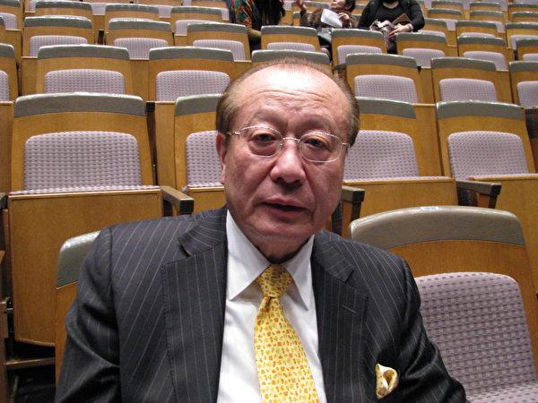 原銀行董事、現從事公司經營顧問的松本純孝(Yoshitaka Matsumoto)看完29日的演出之後,感歎地說自己是首次欣賞神韻演出,是朋友推薦的,的確是非常精湛。(牧聰士/大紀元)