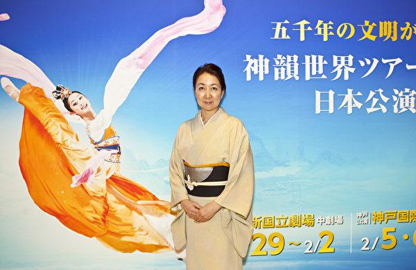 """在观看了该场神韵演出之后,宫泽女士说:""""神韵传达到心里的的讯息,都是很美好的讯息。""""(余钢/大纪元)"""