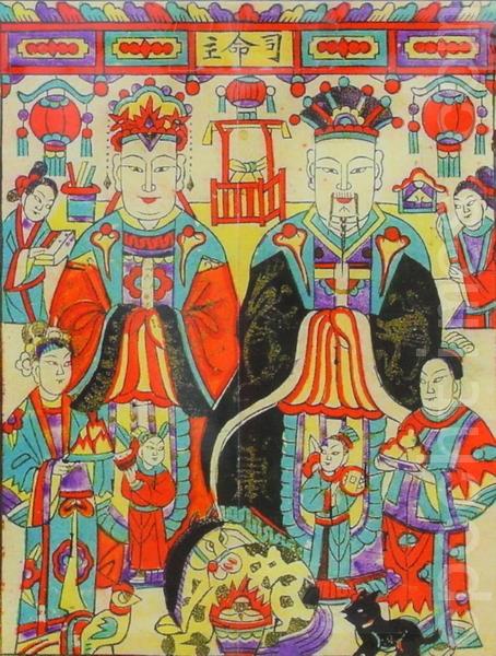 台湾过年:送灶神,写春联,贴年画