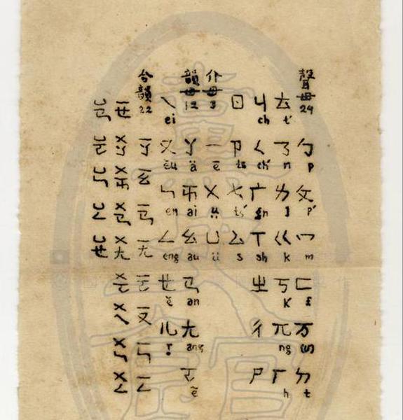 中國國民黨黨史館彙整資料發現,國民黨元老吳稚暉留下許多當初設計注音符號的珍貴手稿。(國民黨黨史館提供)