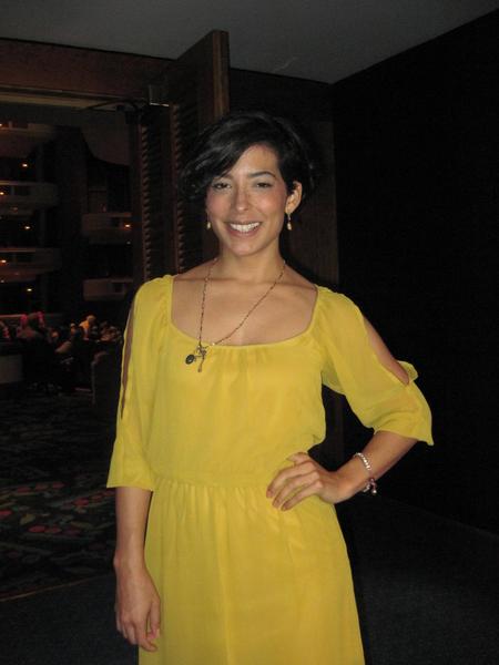 Milena Puerto是佛羅里達好萊烏市的舞蹈和戲劇教師。她說:「神韻晚會非常壯觀!」(秦紫寰/大紀元)