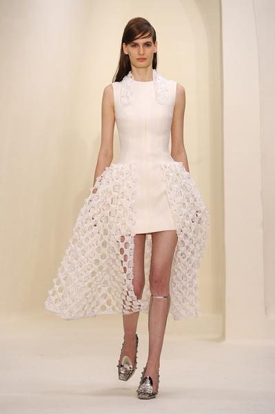 迪奧(Dior)2014年春夏高級定制秀,2014年1月20日於法國巴黎。(Pascal Le Segretain/Getty Images)